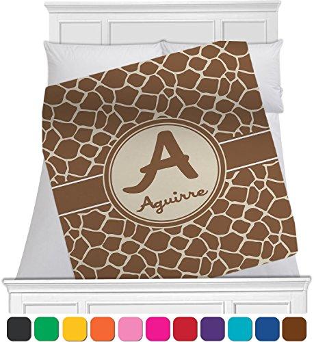 """RNK Shops Giraffe Print Fleece Blanket - Toddler/Throw - 60"""""""