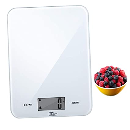 63ee7b0fa6d6 Digital Kitchen Scale, ZOGIN Electronic Kitchen Scale Multifunction Food  Scale Accuracy with LCD Display 17.6lb 8kg(White)