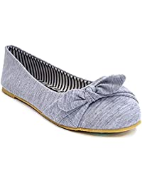 Casual Slip On Side Bow Comfortable Ballerina Flat...