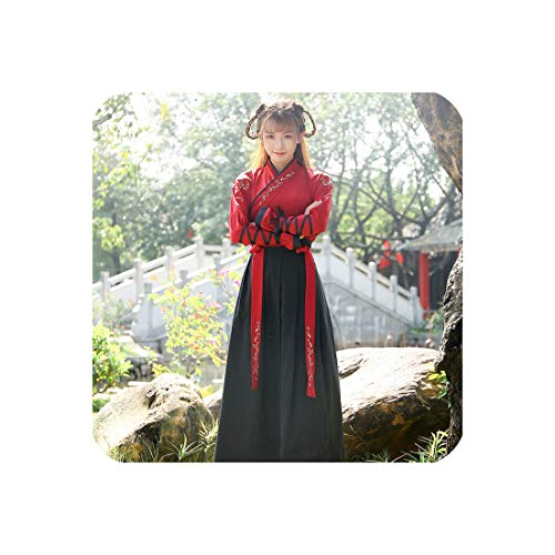 (China National Costumes Hanfu Dress Female Ancient Dancewear Stage Costumes,)
