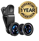 MacBerry Universal 3In1 Mobile Phone Camera Lens Kit With Fish Eye Lens Compatible with Nokia, Redmi, Samsung, Apple Device, AllSmartphones