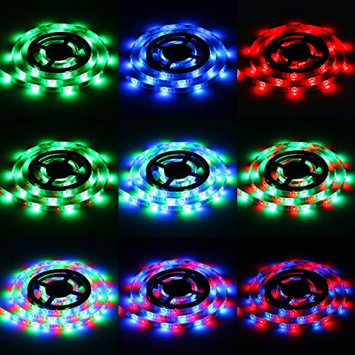 Led Light Strips Sunsbell Battery Powered LED Rope Lights Waterproof Flexible SMD 3528 LED Strip Lights (200cm/6.56ft, RGB) ()