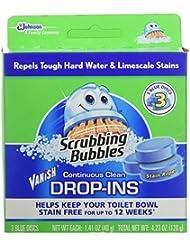 Scrubbing Bubbles Continuous Clean Drop-Ins, Blue Disc, 3 Count