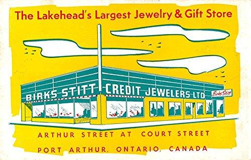 Ontario Canada Pc (Port Arthur Ontario Canada Birks Stitt Credit Jewelers Ltd antique pc Z41470)