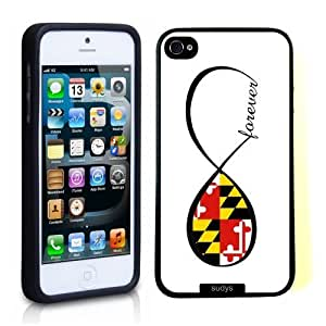 SudysAccessories Maryland Forever MD Maryland Flag Infinity Forever ThinShell Case Protective iPhone 5 Case iPhone 6 plus 5.5 Case