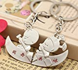 2pcs Kayak keychain Ring Hearts for Coup