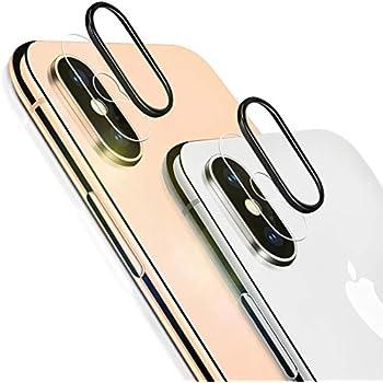 iPhone Xs Max Camera Lens Protector, [2 Pack] Ultra-Thin Anti-Scratch Camera Tempered Glass Screen Protector Film with 2pcs Camera Protective Ring for ...