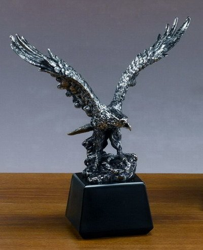 Antique Silver Eagle Statue - Figurine