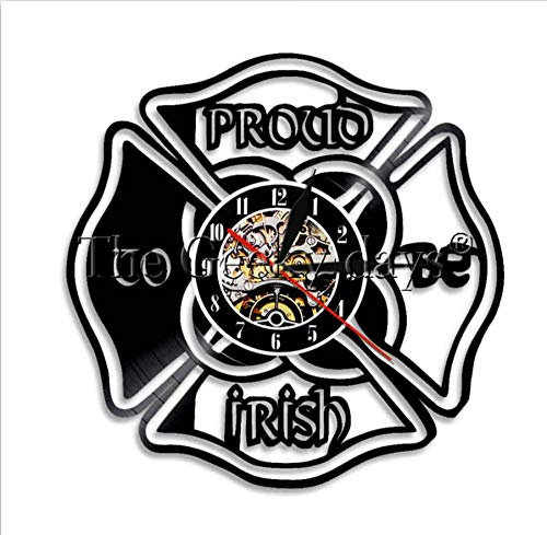 St Patricks Day Guitar - yltian St Patrick's Day Home Decor Wall Clock Proud to Be Irish Proud to Be Irish Quotes Lighting LED Wall Light Sign