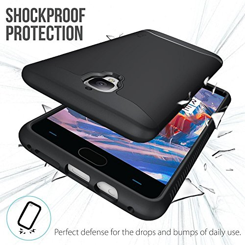 OnePlus 3 Funda, Caja protectora TUDIA MERGE TAREA PESADA Protección EXTREME de doble capa para OnePlus Three (Negro Mate) Negro Mate