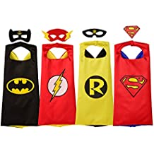 Rubie's Super Hero Cape Set Officially licensed DC Comics Assortment  4 Capes, 3 Masks, and 1 Chest Piece, One Size (Amazon Exclusive)