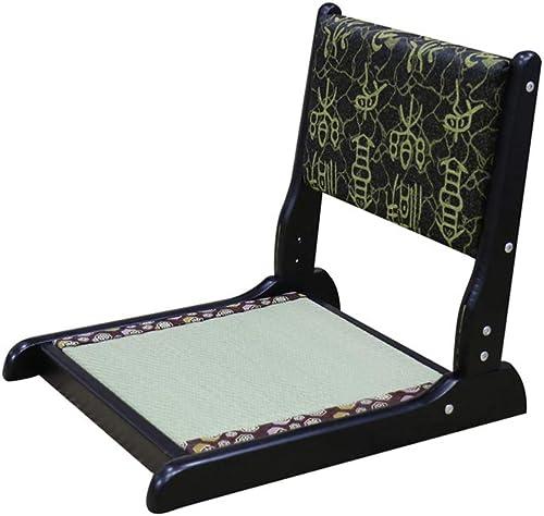 QIDI Bay Window Chair Floor Chair Tatami Chair Legless Chair Folding Chair Backrest Solid Wood Classical Furniture Color 10
