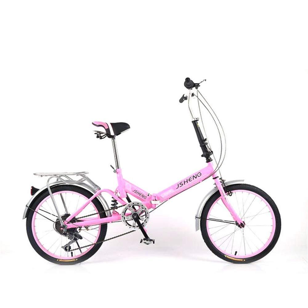 DRAKE18 Bicicleta Plegable, Bicicleta de Estudiante para Mujer, 20 ...