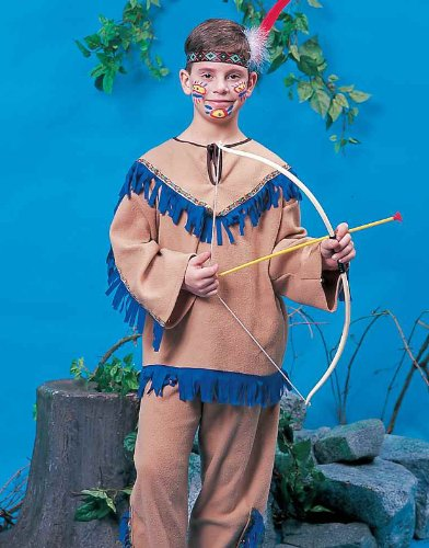[Kids Native American Warrior Indian Costume - Child Medium] (Male Indian Costumes)