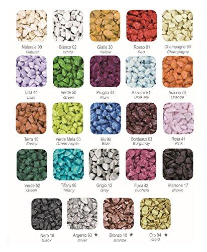 Deco Made in Italy Pietra colorata, sassolini colorati 9/13 mm ...
