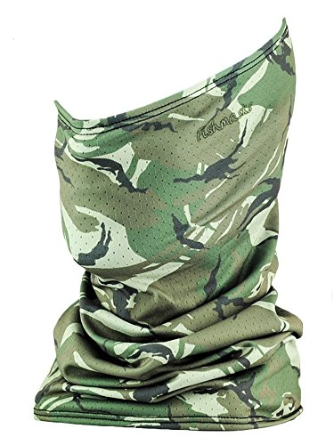 Fishmasks Single Layer Neck Gaiter - Lightweight, Fishing Protection From Sun, Wind And Moisture - Made In USA - UPF 50+ Moisture-Wicking Fabric - Wood Camo