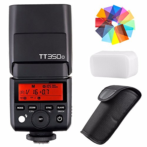 Godox TT350O 2.4G HSS 1/8000s TTL GN36 Camera Flash Speedlite for Olympus/Panasonic Mirrorless Digital Camera w/EACHSHOT Color Filters