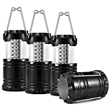 4-Pack LED Camping Lantern, TraderPlus Ultra Bright Portable Flashlights Camping Gear Accessories Equipment for Hiking, Emergencies, Hurricanes, Outages, Storms