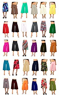 Flowy Soft Gaucho Pants Made in the USA 25 colors available – CAPRIS