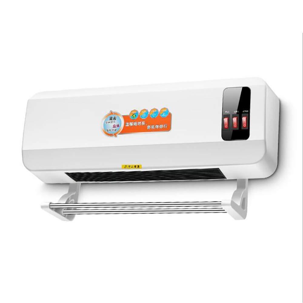 Acquisto XD Riscaldatore Stendipanni a Muro Home Silenzioso Bagno da Ufficio Elettrico Vento Elettrico Interruttore a Pulsante a 3 velocità 2000W Prezzi offerte