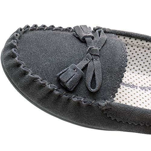 Women Grey Flat Moccasin Moccasins Loafer Shoes Casual Comfortable Womens For Realfancy Slippers Spring awtx7pa4