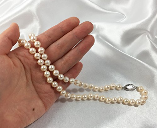 Dolores DEL Rio-AAA +-Collier de perles d'eau douce Perles de culture Sélectionnées-Mariage Collier de perles