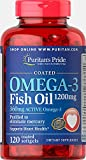 Cheap Puritan's Pride Omega-3 Fish Oil Coated 1200 mg (360 mg Active Omega-3)-120 Coated Softgels