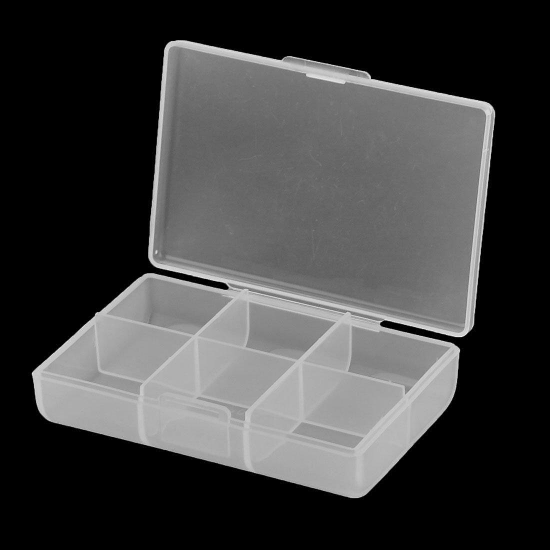 Caja eDealMax piezas de plástico componente de almacenamiento del caso del elemento 2pcs Claro - - Amazon.com
