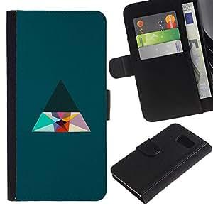 All Phone Most Case / Oferta Especial Cáscara Funda de cuero Monedero Cubierta de proteccion Caso / Wallet Case for Sony Xperia Z3 Compact // Triangle Minimalist Clean Aesthetic