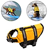NOT HOME Dog Life Jacket Swimsuit, Quick Release Easy-Fit Adjustable Aquatic Pet Safety Preserve Vest with Reflective Tape for Small Medium Dogs. (S, Yellow)