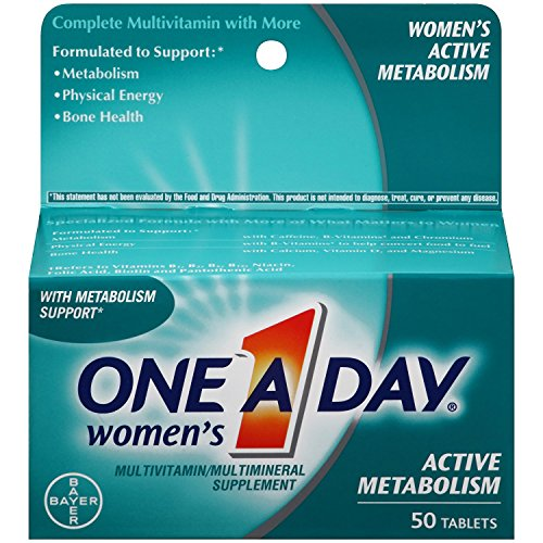 One A Day Womens Active Metabolism Complete Multivitamin Tablets, 50 count
