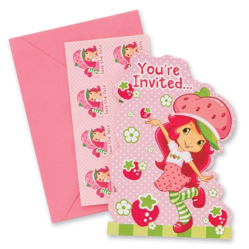 Strawberry Shortcake Party Invitations (Strawberry Shortcake Party Invitations - Party Supplies - 8 per Pack)