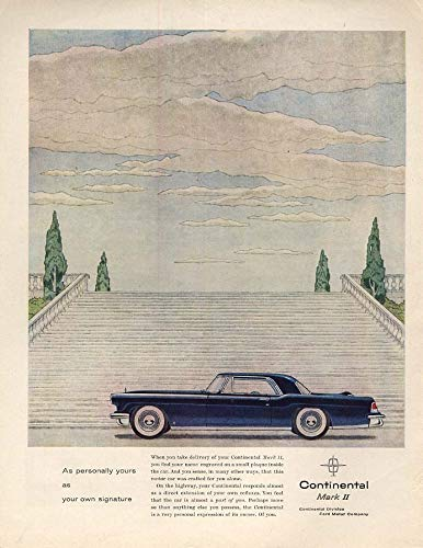 1956 Continental Mark Ii - As personally yours as your own signature - Loncoln Continental Mark II ad 1956