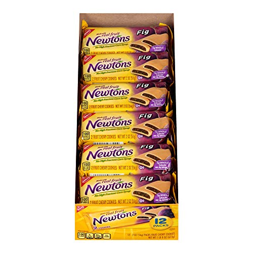 Nabisco Fig Newtons - Newtons Fig Fruit Chewy Cookies - Snack Packs, 12 Count Box, 24 Ounce (Pack of 4)
