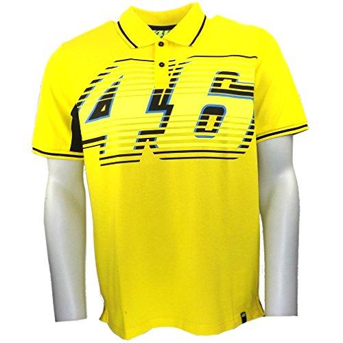 Valentino Rossi VR46 große 46 Moto GP Poloshirt gelb offizielle Neu