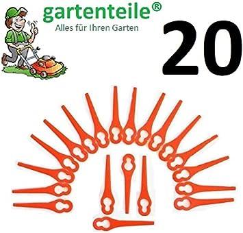 20Cuchilla de repuesto apto para gardol Gate 18Li–Batería para cortabordes/cuchillo/plotter Fichas/PA6/Gate 18LI