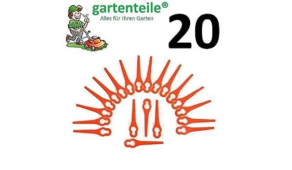 20 Cuchilla de repuesto apto para gardol Gate 18 Li ...