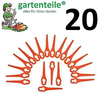 20 Ersatz Messer passend für Güde RT 250//18 Li Ion Akku Rasentrimmer