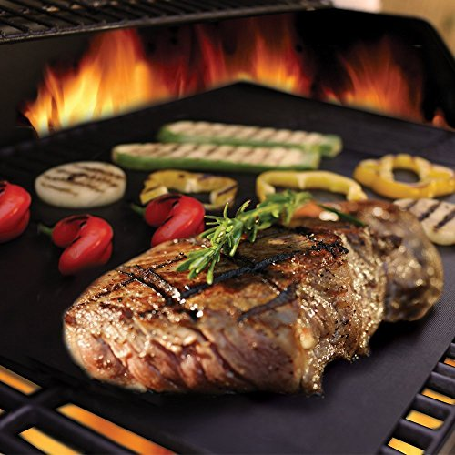 Barbecue mat (Set of 5), Grilldom and Reusable BBQ Grill Mat, Teflon Non-stick 0.2mm, 40x33cm by Grilldom (Image #2)