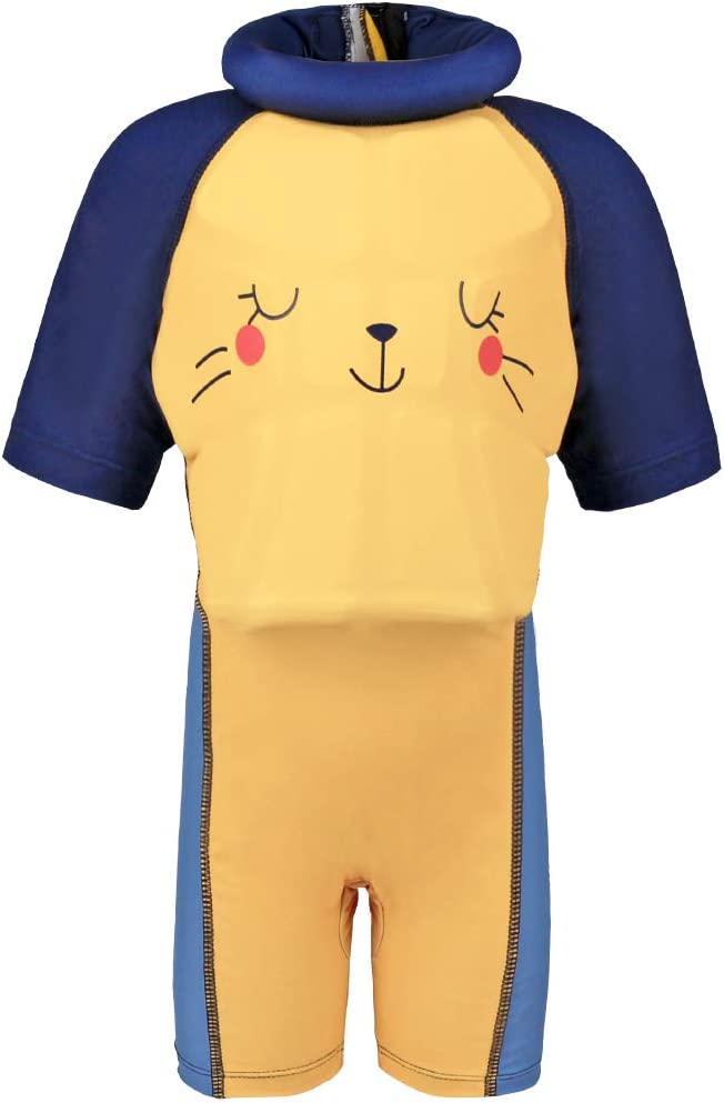 Gogokids Costume da Bagno Intero per Bambina Bambino Nuoto Abbigliamento con Galleggianti Tuta Galleggiante per Ragazze Ragazzi