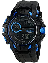 Men's 40/8335BLU Blue Accented Digital Chronograph Black Resin Strap Watch