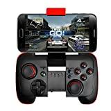 KINGAR Bluetooth Game Controller with Vibration(Have the telescopic bracket),Wireless Gamepad