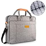 DOB SECHS 16'' 17'' 17.3 Inches Laptop Bag Shockproof Briefcase Shoulder Messenger Bag, Universal Nylon Business Laptop Sleeve Case, Laptop Carrying Handbag for Men/Women, Grey