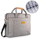 DOB SECHS 16'' 17'' 17.3 Inches Laptop Bag Shockproof Briefcase Shoulder Messenger Bag, Universal Nylon Business Laptop Sleeve Case, Laptop Carrying Handbag for Men/Women, Grey