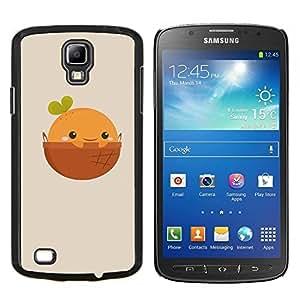 KLONGSHOP // Cubierta de piel con cierre a presión Shell trasero duro de goma Protección Caso - Naturaleza Cliff Castle - Samsung Galaxy S4 Active i9295 //