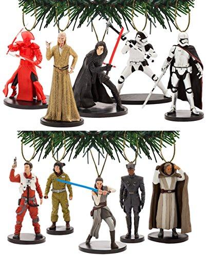 Disney's Star Wars The Last Jedi 10 Piece Ornament Set