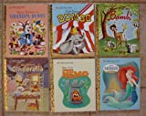 little golden books set of 6 walt disney stories grandpa bunny cinderella bambi dumbo finding nemo the little mermaid