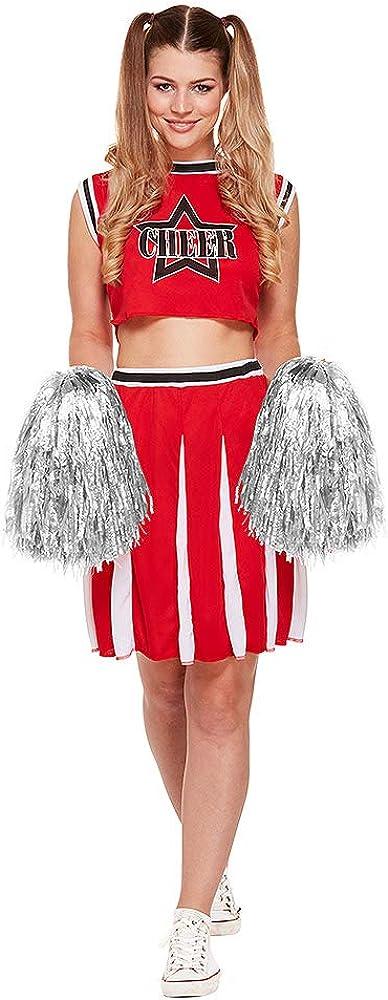 Henbrandt Blue Banana Disfraz de Animadora o Cheerleader - Rojo ...