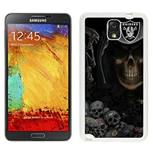 Oakland Raiders White Abstract Design Custom Samsung Galaxy Note 3 N9005 Case