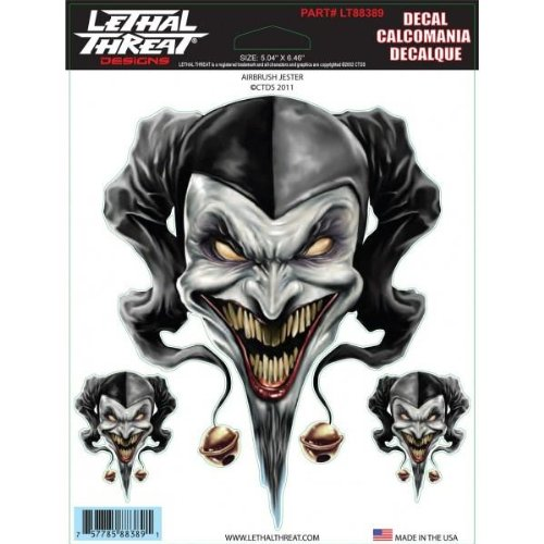 Lethal Threat Airbrush Jester Decal LT88389 ()